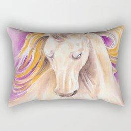 Andalusian Palomino Purple Watercolor Art Rectangular Pillow