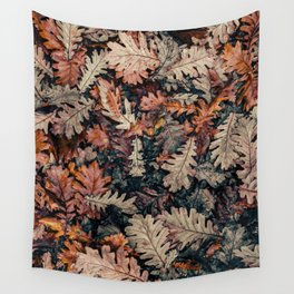 Autumn Leafs Pattern (Color) Wall Tapestry