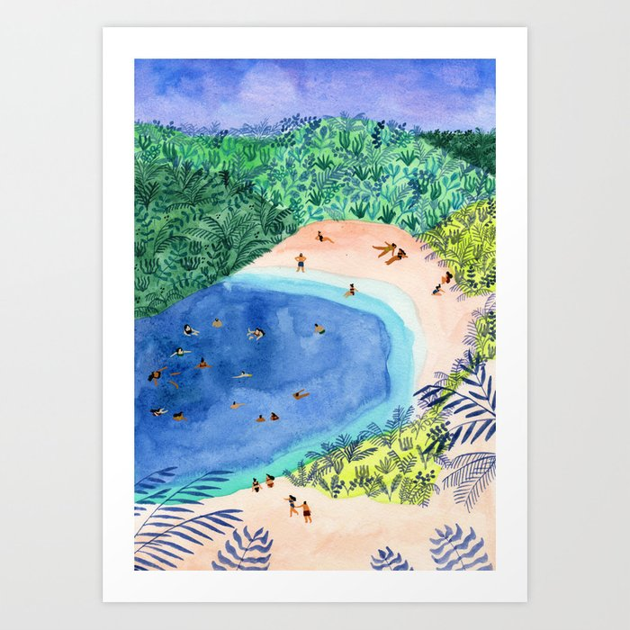 French Paradise Art Print