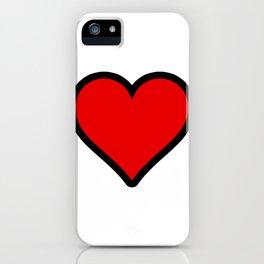 Heart Shape Digital Illustration, Modern Artwork iPhone Case