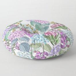 Hydrangeas Floor Pillow