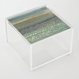 Landscape Dots- Blue Acrylic Box