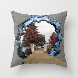 Lake Wendouree Framed Throw Pillow