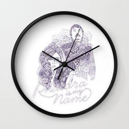 Phaedra is my Name Wall Clock