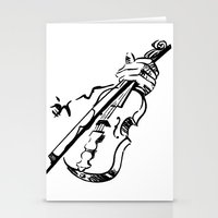 violin Stationery Cards featuring Violin by Azure Cricket