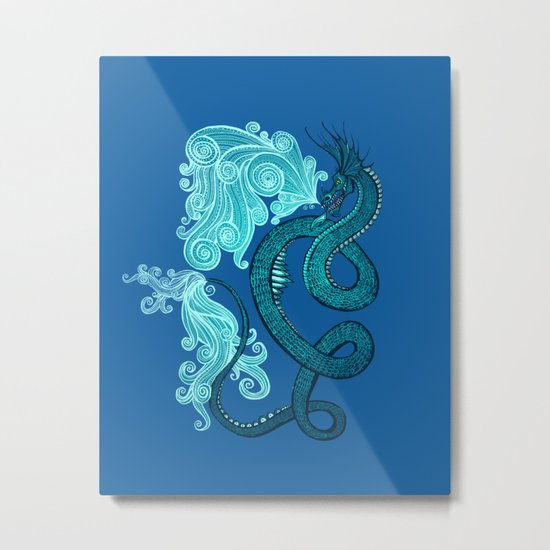 Ice Serpent Metal Print