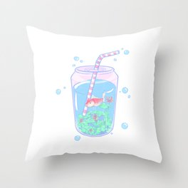 Koi Fish Can Throw Pillow