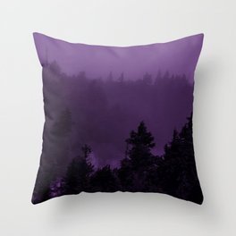 Purple Fog Throw Pillow