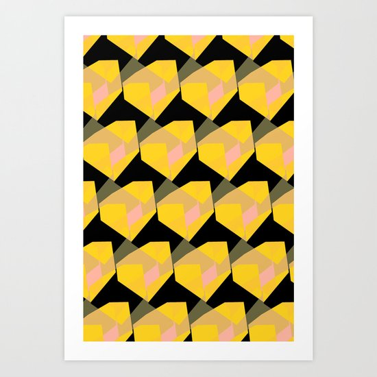 Yellow & Black Art Print