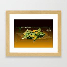 Kree8 3D Graffit Framed Art Print