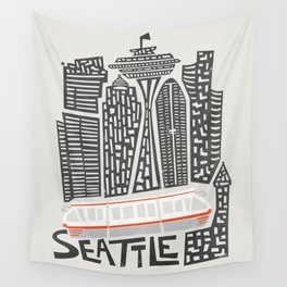 Seattle Cityscape Wall Tapestry