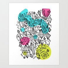 gem stones Art Print