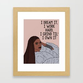 Bey Lemonade Formation Framed Art Print