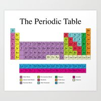 periodic table Art Prints featuring Periodic Table by robyriker