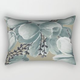 Spring Tulips Neutral  Rectangular Pillow