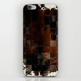 cowhide texture patchwork iPhone Skin