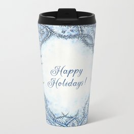 Happy Holidays! Metal Travel Mug
