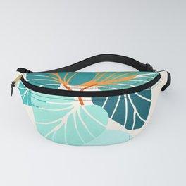 Tropical Symmetry / Retro Aqua Orange Palette Fanny Pack