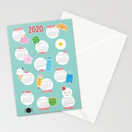 Kawaii Life 2021 Calendar Stationery Cards
