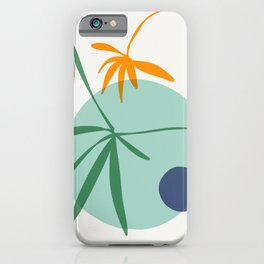 zen garden - blue moon iPhone Case
