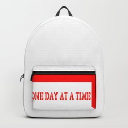 One Day at a Time (red block) Backpack