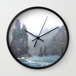 Kenai Fjords Pillars - 1 Wall Clock