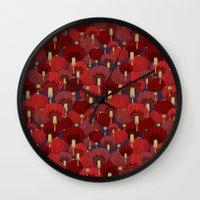 chinese Wall Clocks featuring Chinese Lanterns by Deborah Panesar Illustration