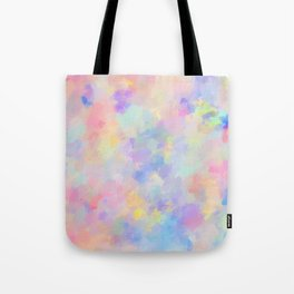 Secret Garden Colorful Abstract Impressionist Painting Pattern Tote Bag