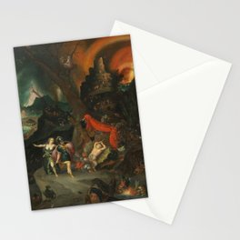 aeneas and the sibyl in the eye's underworld Stationery Cards