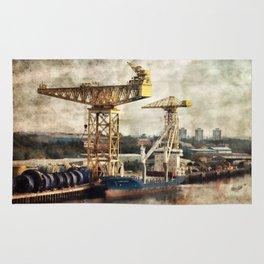 River Tyne Industrial Landscape Rug