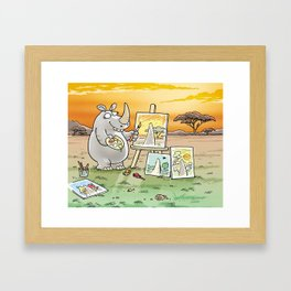 Rhino The Artist Framed Art Print