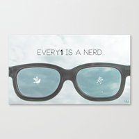 nerd Canvas Prints featuring nerd by Nivi