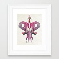 flamingo Framed Art Prints featuring flamingo by Manoou