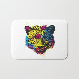 COLORED LEOPARD Bath Mat