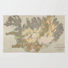 Vintage Geological Map of Iceland (1901) Rug
