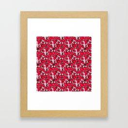 Pattern of Ripe Red Cherries Framed Art Print