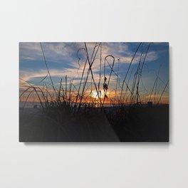 Seaside Sway Metal Print