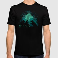 Forest Dwellers MEDIUM Mens Fitted Tee Black
