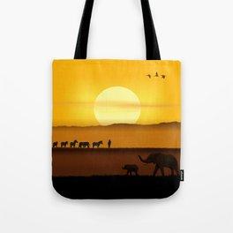 Morning in the African savannah Tote Bag