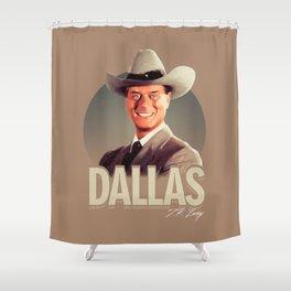 Dallas - J.R. Ewing Shower Curtain