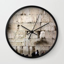 Jerusalem - The Western Wall - Kotel #4 Wall Clock