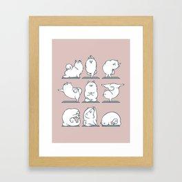 Samoyed Yoga Framed Art Print