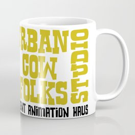 Urbancowfolks Studio Kitty Mustard Logo Coffee Mug