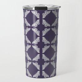 Meteorite Purple Arts and Crafts Butterflies Travel Mug