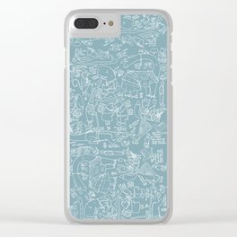 Animals anticipating Clear iPhone Case