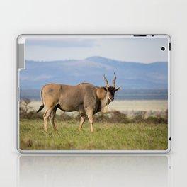 Eland with blue Kenyan hills Laptop & iPad Skin