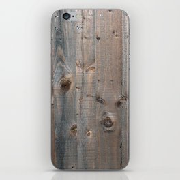 Brown Wooden Fence iPhone Skin