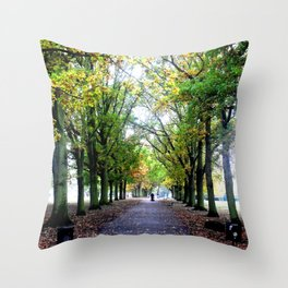 Perspective Trees Throw Pillow