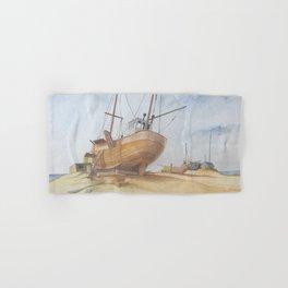 Boats on Dungeness Beach Kent England Hand & Bath Towel