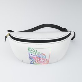 Buenos Aires Watercolor Street Map Fanny Pack